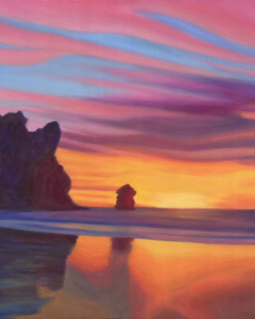 Sunset in Morro Bay 04 Painting