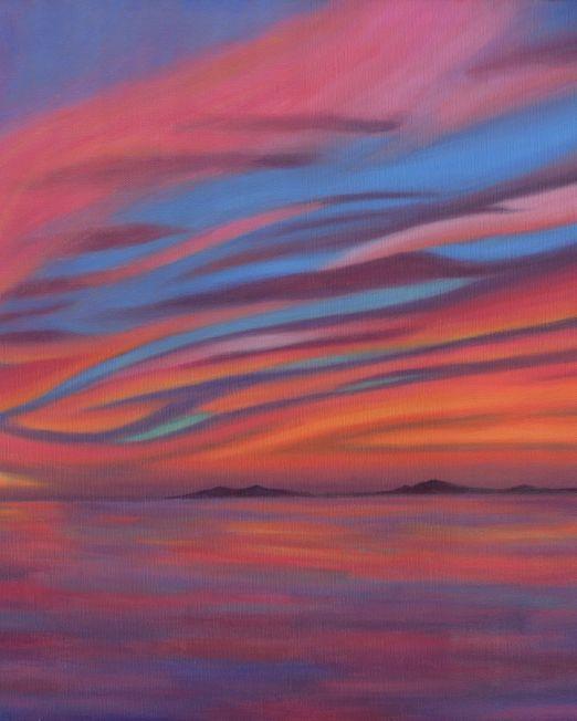 Seal Beach Sunset 05 Painting