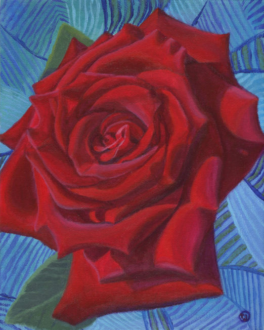 Red Rose in Blue 1