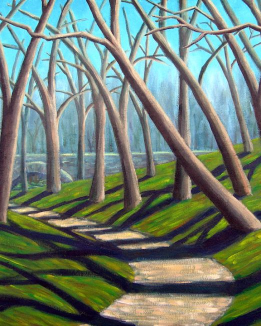 Central Park Solitude Painting