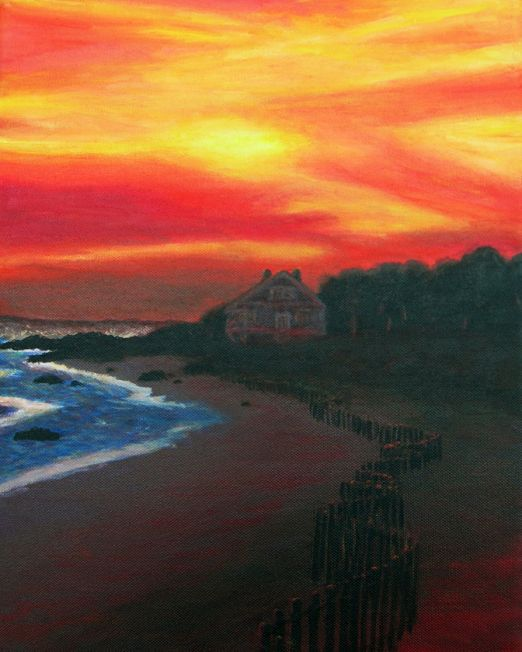 Fire Sky Painting